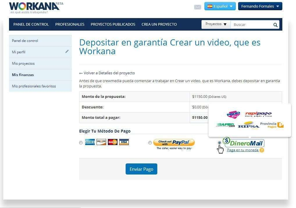 Depósito en garantía - DineroMail