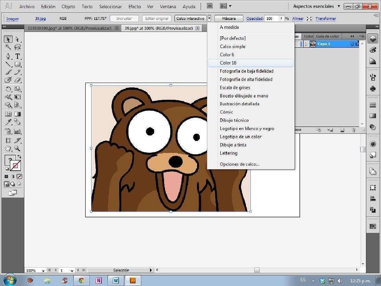 Edición de imágenes en Illustrator I