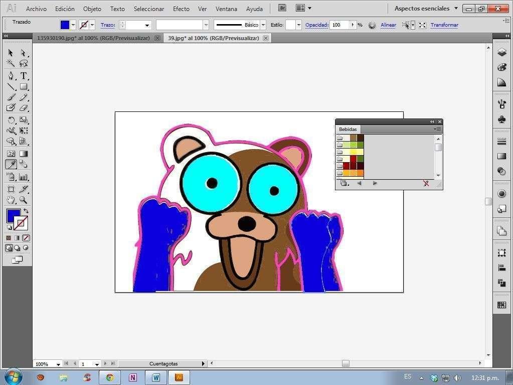 Edición de imágenes en Illustrator II