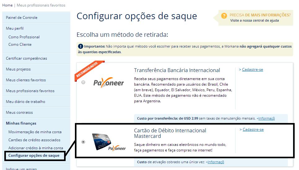 payoneer - nova forma de pagamento