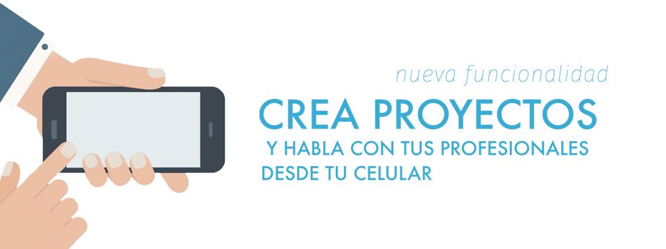 Crea tus proyectos desde cualquier lugar: movilidad!