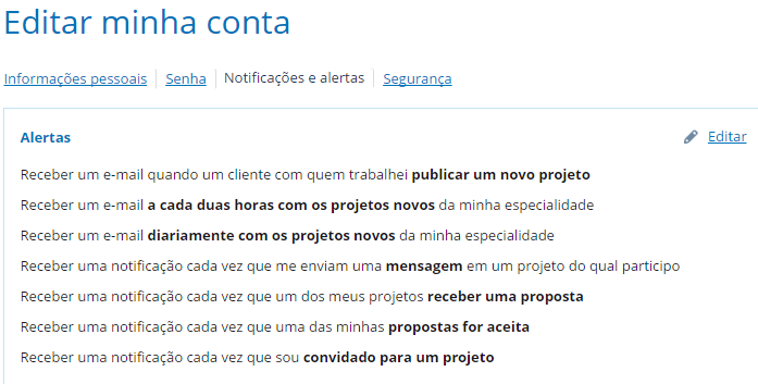 notificacoes da workana