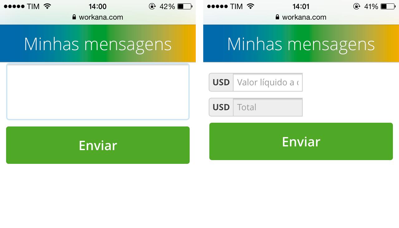 propostas e mensagens - workana mobile