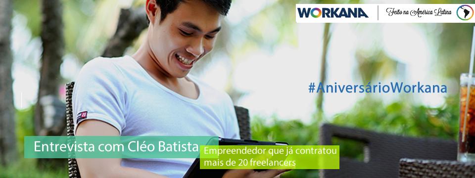 aniversário da Workana - entrevista com Cléo Batista