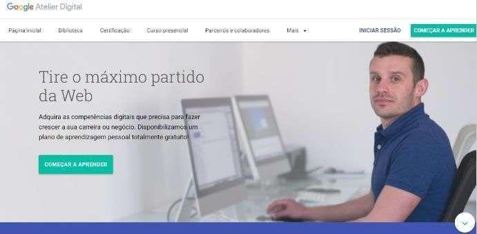 Página sobre empreendedores de sucesso - Google Digital Garage