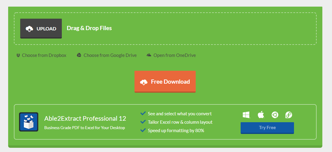 How to convert PDF to Excel: free online tools