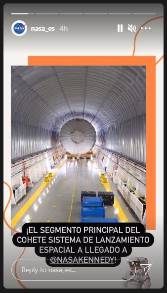 exemplos de Stories no Instagram: NASA em espanhol