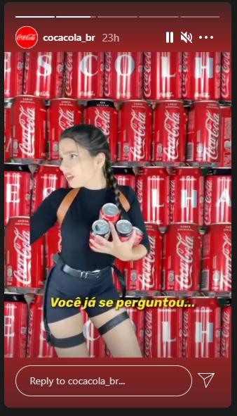 Exemplos de Stories do Instagram Coca Cola BR