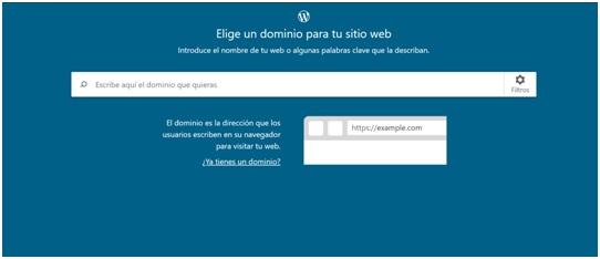 cómo elegir un dominio para crear un sitio en WP