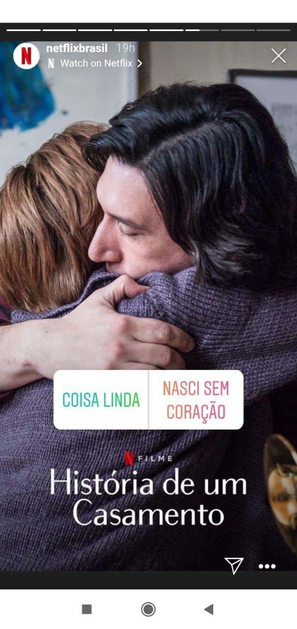 exemplos de Stories do Instagram criativos - Netflix Brasil Julgue um filme pela capa
