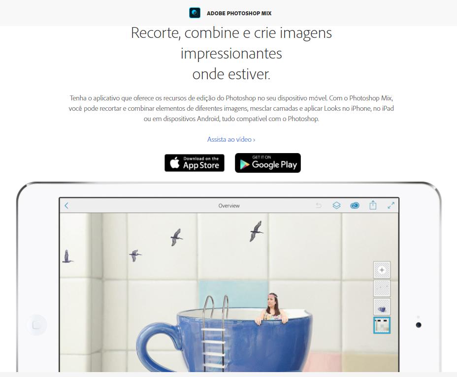 Aplicativo Adobe Photoshop Mix - edição de imagens