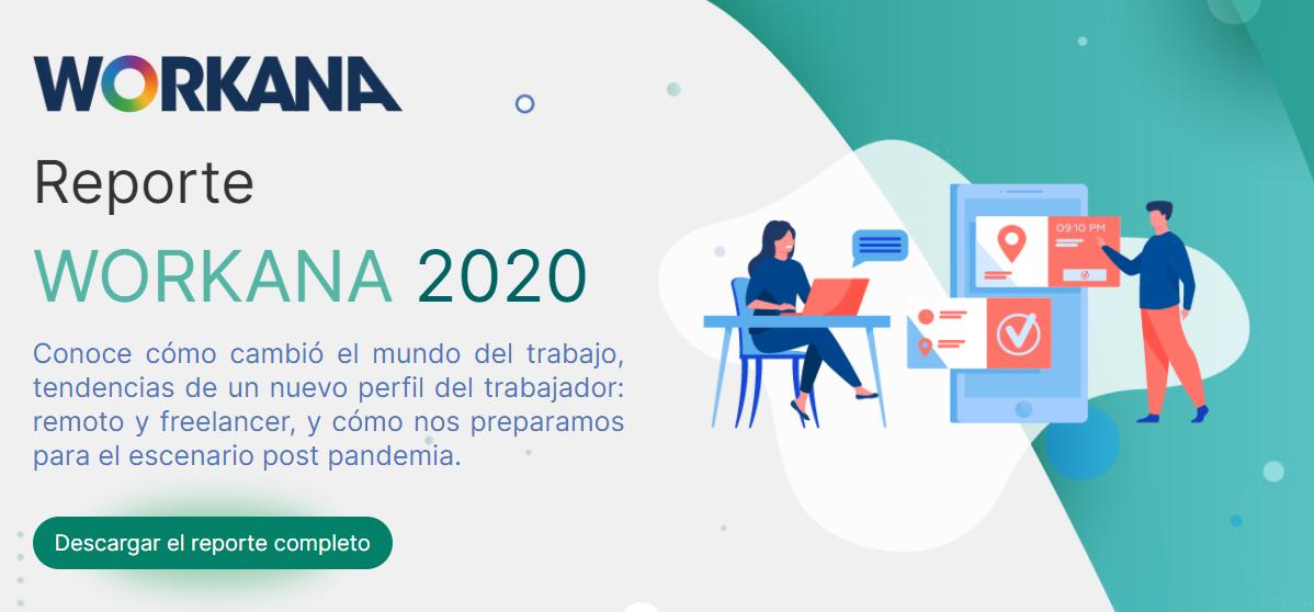 tipos de contenidos web - ebooks o descargables - ejemplo reporte workana 2020
